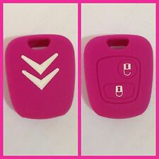 CITROEN PINK C1 C2 2B C3 C4 BERLINGO CAR KEY FOB COVER CASE HOLDER REMOTE