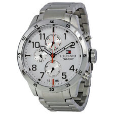 Tommy Hilfiger Multi-Function White Dial Stainless Steel Mens Watch 1791140