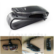 2X Car Auto Sun Visor Clip Holder For Reading Glasses Sunglasses Eyeglass Black