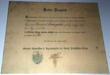 GERMAN - 1870/71 Iron Cross 2nd Class, Award Cert. Franco-Prussian War.  (Copy)