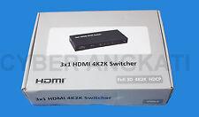 Maplin 3 VIE 4k SPLITTER HDMI Full 3d 4k2k HDCP-Nuovo-n68dv-RRP = £ 59.99