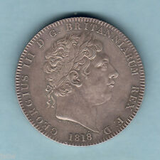 Great Britain.   1818 LVIII - George 111 Crown..  aUNC - Some Lustre