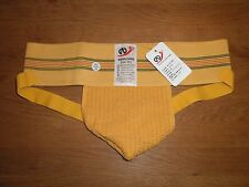 Men's Medium Traditional Wide Waistband Yellow Cotton Sports Jockstrap Gay UK