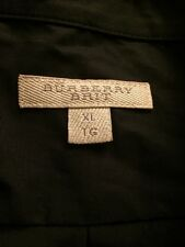 Authentic BURBERRY BRIT Mens  Black Shirt Button Down Cotton LS Sz XL NEW