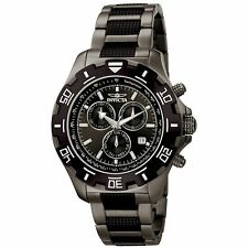 NEW Invicta 6412 Men's Python Series Black/Grey Stainless Steel Bracelet Watch