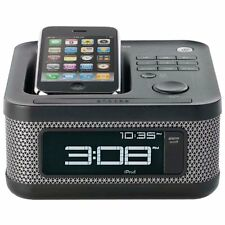 Memorex MI4604 BLK Mini Alarm Clock Radio Speaker Dock for your iPod/iPhone