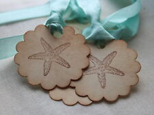 STARFISH-Vintage Style Tags/Labels-Set of 5-Beach Wedding-Favours-Gifts-Unique