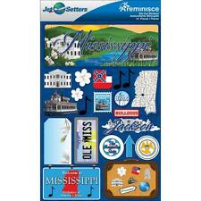 Scrapbooking Crafts Stickers 3D Mississippi License Plate Steam Boat Ole Miss