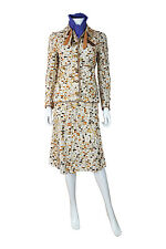 *CHANEL* VINTAGE MULTI-COLOURED WOOL WAFFLE TWO PIECE SKIRT SUIT