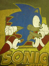 SONIC HEDGEHOG youth med T shirt video-game Sega longsleeves size 5-6 distressed