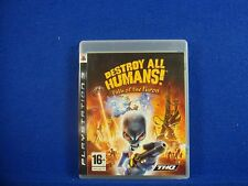*ps3 DESTROY ALL HUMANS! Path Of The Furon (no manual) Alien Destruction PAL