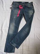 FORNARINA Damen Blue Jeans W28/L34 slim fit extra low waist straight leg women