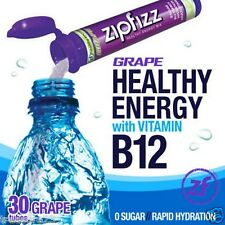 Zipfizz Healthy Energy Drink Mix Grape 30 Tubes