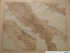 Landkarte von Mittel - Italien, Velhagen & Klasing 1895