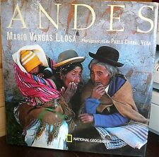 ANDES, Mario Vargas Llosa, superbes photos de Vega,  World FREE Shipping*