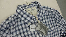 New Abercrombie & Fitch Muscle AF Long Sleeves Plaid Casual Dress Shirt Size M