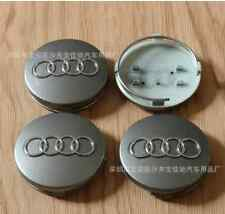 4pcs 60mm Silver WHEEL CENTER HUB CAP RIM CAPS for AUDI A3 A4 A6 A8