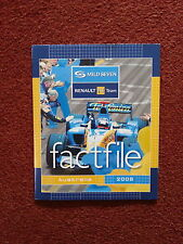 MILD SEVEN RENAULT F1 TEAM FACTFILE ROUND 1 AUSTRALIA 2005 ALL DRIVERS INFO ALON