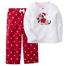 NWT ☀FLEECE☀ CARTERS Girls Pajamas New CHRISTMAS DOG  8  $32
