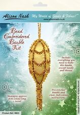 Christmas Bauble BEAD EMBROIDERY KIT, Amber & Gold - Suitable complete beginners