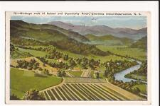 Cherokee Reservation NC Birdseye View School Oconaluftee River 1931 WB Post Card