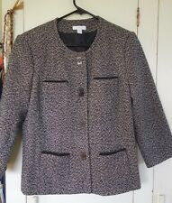 CHARTER CLUB Womens Dress Jacket/Blazer w Magnetic Twist Buttons & Beading Sz PL