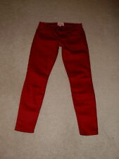 CURRENT / ELLIOTT RODEO RED LOW RISE STILETTO SKINNY ANKLE STRETCH JEANS SIZE 24