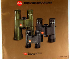 Original Leitz Wetzlar Sales Brochure for Trinovid Binoculars, 1983, 24 pages