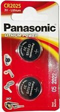 2 X Panasonic CR2025 3V Lithium Coin Cell batterie 2025