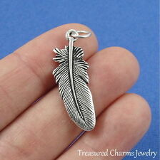 Silver FEATHER Native American Indian Southwest CHARM PENDANT