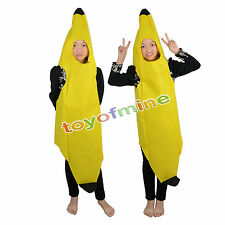 Banana Fruit Costume Fancy Dress Hen Funny Stag Party Outfit Child Adult Unisex