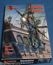 MARS 72070 ZOMBIE PIRATES #I 48 PIECE PIRATE SET. 1/72 SCALE UNPAINTED PLASTIC