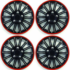 """Toyota Aygo 2005 On 15"""" Lightning Blk/Red Trims Wheel Covers Caps Hubs"""