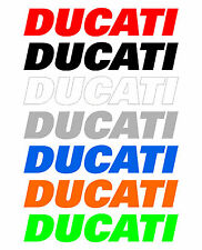 3 Adesivi DUCATI per serbatoio Diavel Monster Panigale stickers moto racing