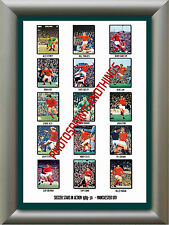 MANCHESTER UTD - 1969-70 - REPRO STICKERS A3 POSTER PRINT