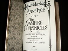 Anne Rice signed The Vampire Chronicles 3rd printing leatherbound hardcover book