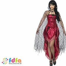 GOTHIC LACE VAMPIRE CAPE HALLOWEEN - one size- ladies womens fancy dress costume