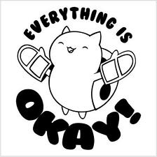 Catbug Everything is OK bravest warriors vinyl die cut decal sticker