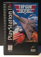 SONY PLAYSTATION 1 PS1 LONG BOX GAME COMPLETE - TOP GUN - 1995
