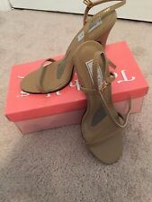 Taupe Nude Tan High Heel Strappy Evening Prom Swimsuit Pageant Women's Shoe