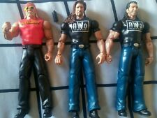 WWE Mattel Wrestling 3 FIGURE LOT KEVIN NASH SCOTT HALL HULK HOGAN NWO WCW WWF