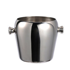 1L Stainless Steel Ice Bucket Bar KTV Red Wine Ice Champagne Beer Barrel + Ears