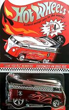 Hot Wheels Red Line Club Customized VW Drag Bus Thank You RLC Bus