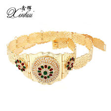 New Luxury Fashion Moroccan Caftan Gold Plated Wedding Belt Waist Chain Metal