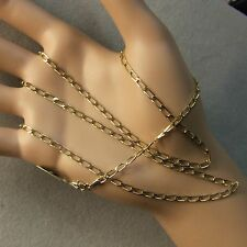 9 ct GOLD second hand open flat curb chain