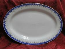 Chinese Custom Made White w/Royal Blue and Gold: Platter 16""