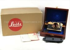New 24k Gold Leica M4-2 Camera w/ Summilux-M 50/1.4 Oskar Barnack 100 Years Anni