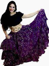 Purple Polka Dot Tribal gypsy 25 yards yard belly dance folk cotton skirt ATS