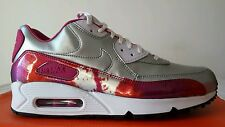 NIKE AIR MAX 90 WMNS ARGENTO FUXIA N.44 PELLE LIMITED EDITION STUPENDA OKKSPORT