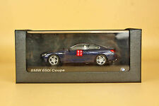1/43 bmw 650i coupe blue color die cast model